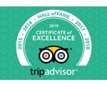 Tripadvisor - Certificate of Excelence 2019 Hall of Fame Awards